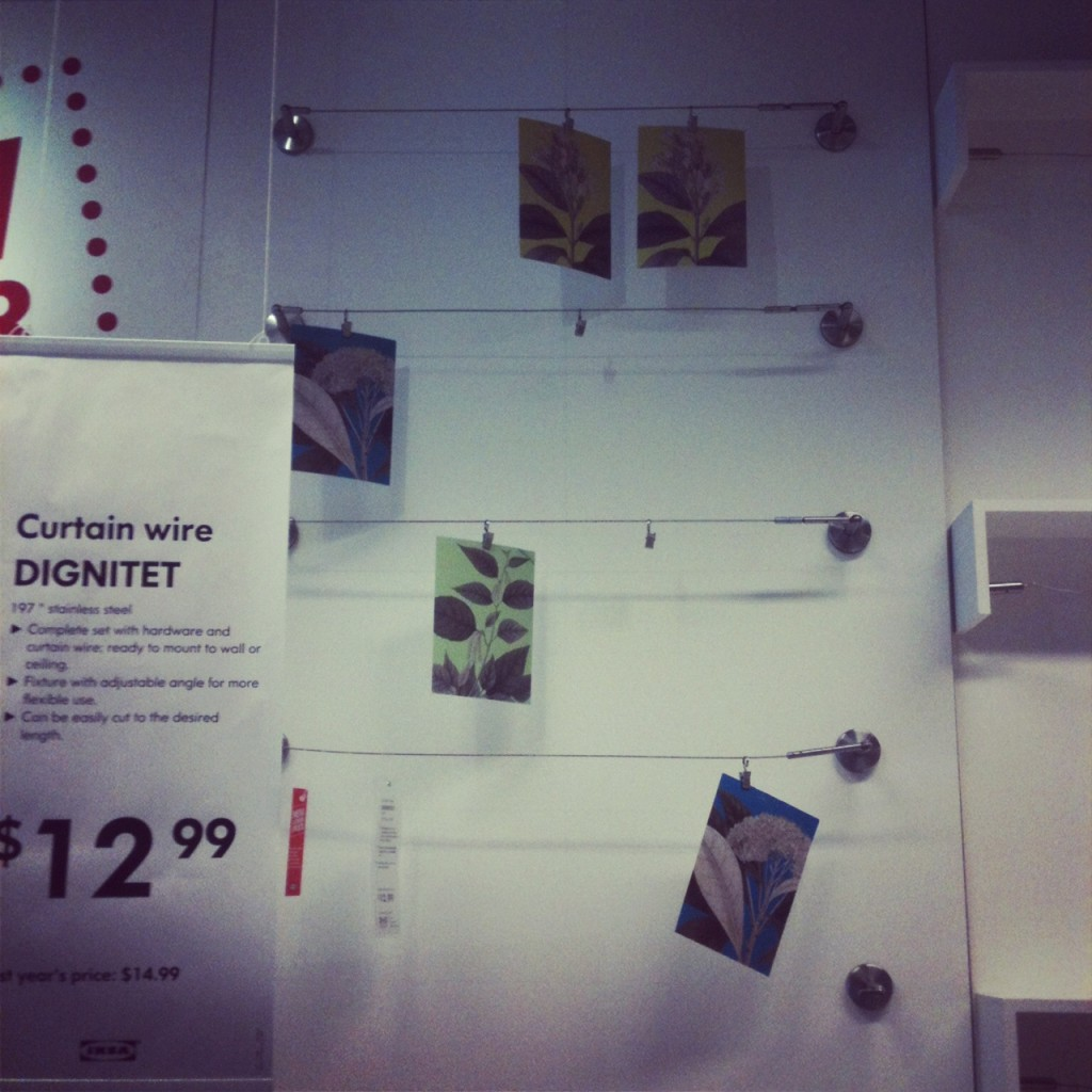 Ikea kids art display