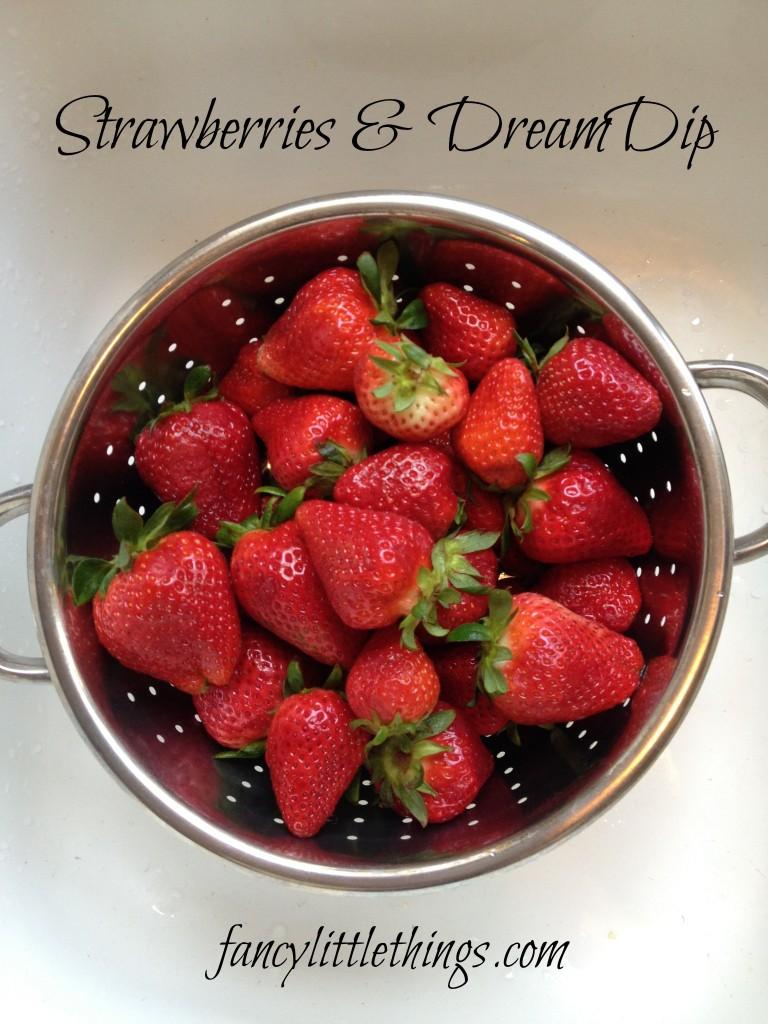 strawberries and dream dip