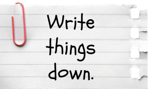 Get Inspired: Write Things Down
