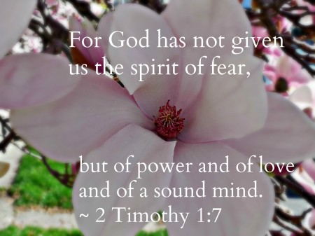 God hasn't given us the spirit of fear @FancyLittleThings.com