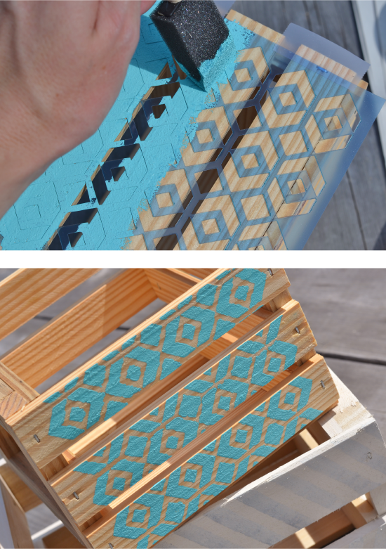2 diy painted wooden crates