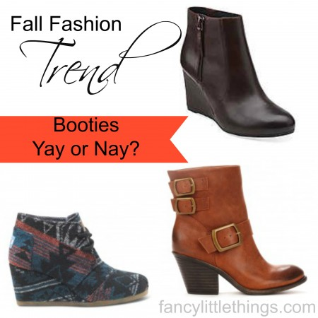 Fall Fashion Trend:  Booties - Yay or Nay? @ FancyLIttleThings.com