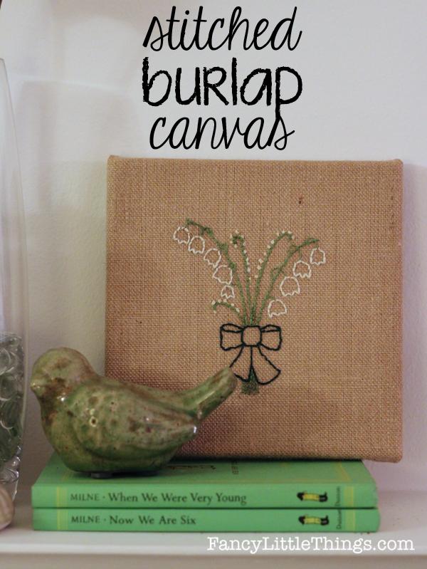 Stitched Burlap Canvas05