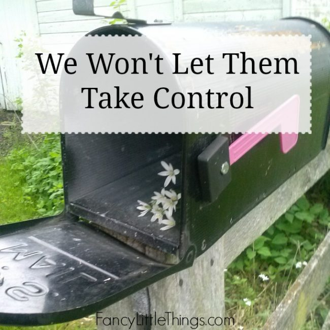 We Won't Let Them Take Control