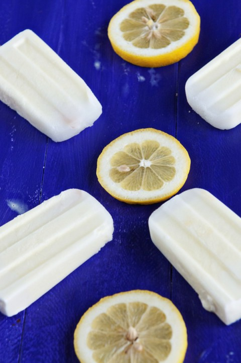 Creamy Lemonade Popsicles