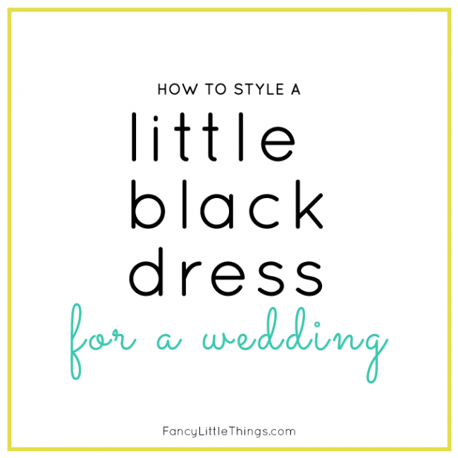 Little Black Dress: Wedding Style