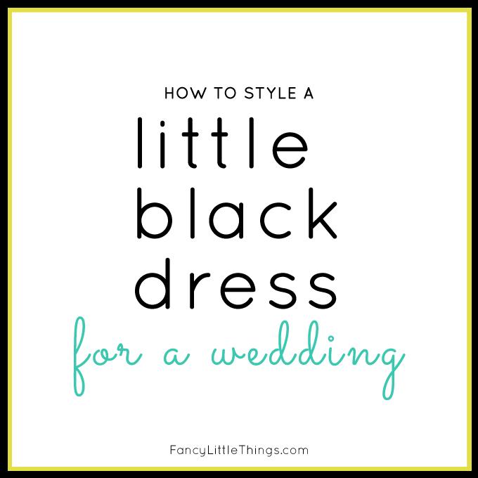 Little Black Dress Wedding Style