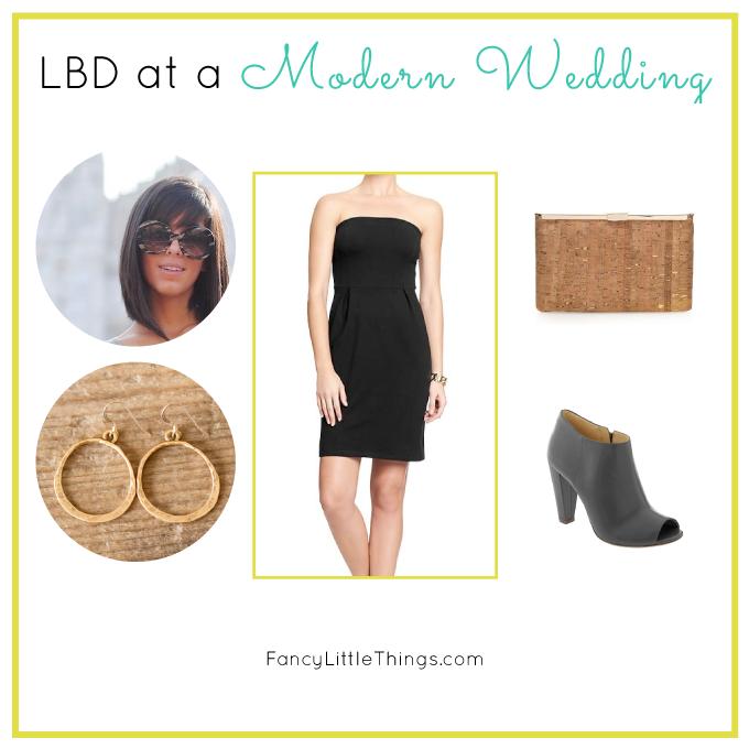 Little Black Dress Modern Wedding Style