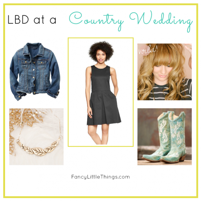 Little Black Dress: Country Wedding Style