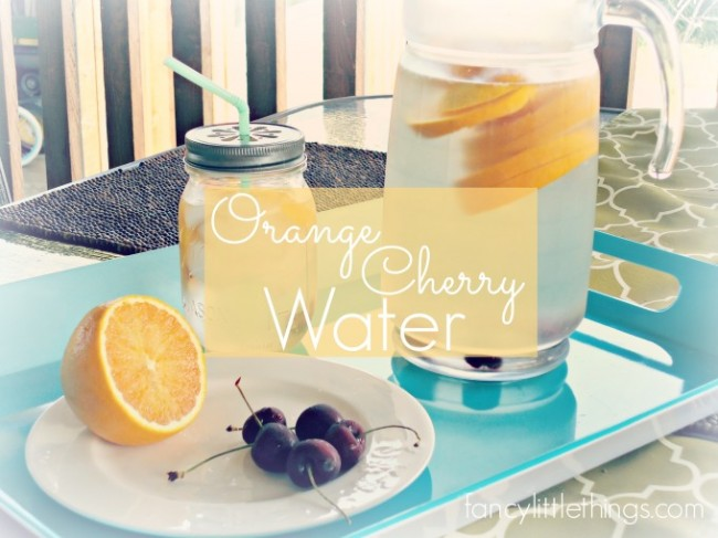 Refresh with Orange Cherry Water