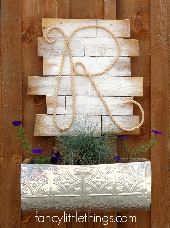 Rope Monogram Outdoor Decor
