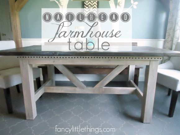 Nailhead Farmhouse Table