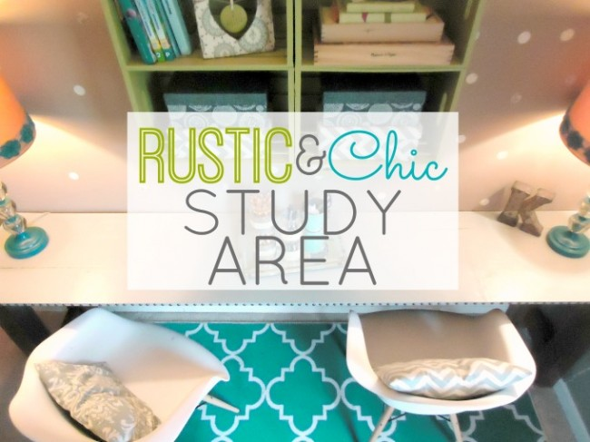 Rustic & Chic Study Area