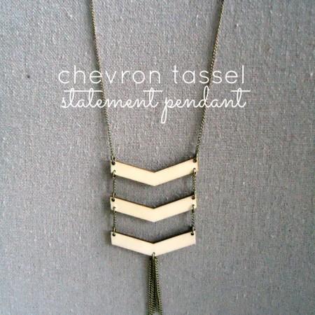 Chevron Tassel Statment Pendant